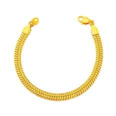 Harga Mewah 18 Karat Asli Berlapis Emas Perhiasan Gelang Rantai Pria Berkualitas Tinggi Fashion Perhiasan Hadiah Untuk Wanita China Termahal