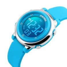 Spesifikasi Skmei Colorful Led Digital Anak G*Rl Blue Silikon Tali Olahraga Jam Tangan Mahasiswa Fashion Jam Tangan 1100 Original Biru Intl Baru
