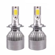 MHS C6 H4 LED Headlight Hi/Lo COB 36 W-60 W 2500/3600Lm Untuk Universalautomobile Mobil head Light Lamp Pure White-Intl