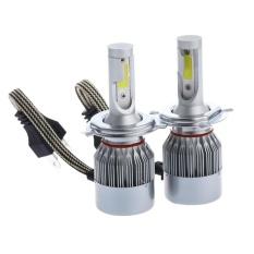MHS Dipasangkan C6 H4 LED Mobil Bohlam Lampu 12 V 3300Lm Auto Headlamp (Perak)-Intl
