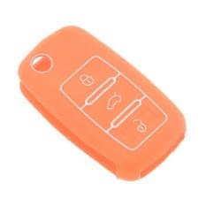MHS Silicone Key Fob 3 Tombol Case Cover Kulit untuk VW Magotaneos Golf Orange-Intl