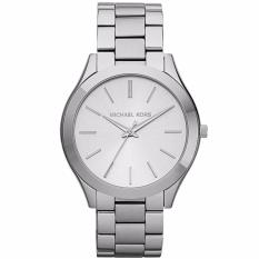 Jual Michael Kors Mk3178 42Mm Jam Tangan Pria Wanita Slim Runway Silver Unisex Men Women Ladies Watch Silver Branded Original