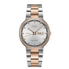 MIDO M014.430.22.031.80 - Comander II - Automatic Movement - Jam Tangan Pria - Bahan Tali Stainless Steel - Silver/Rose Gold