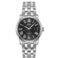 MIDO M024.207.11.053.00 - Belluna II - Automatic - Analog - Jam Tangan Wanita - Bahan Tali Stainless Steel - Silver - Dial Hitam