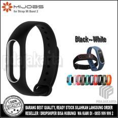 Beli Mijobs Original Xiaomi Strap For Mi Band 2 Oled Display Black White Dengan Kartu Kredit