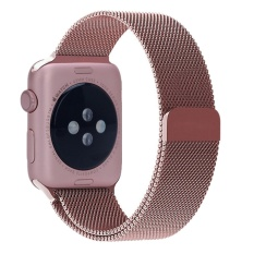 Spesifikasi Milanese Magnetic Loop Stainless Watch Band Tali Kulit Loop Untuk Apple Watch Rose 38Mm Intl Yg Baik