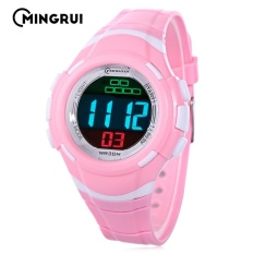 Tips Beli Mingrui Mr 8559082 Kids Led Digital Watch Alarm Calendar Chronograph Display 3Atm Wristwatch Intl Yang Bagus