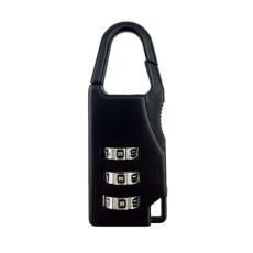 Mini 3 Digit Kode Kombinasi Brankas Keamanan Perjalanan Bagasi Kunci Gembok Hitam