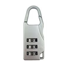 Mini 3 Digit Kode Kombinasi Brankas Keamanan Perjalanan Bagasi Kunci Gembok Keperakan