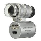 Harga Mini 60 X Mikroskop Saku Penukaran Lampu Led Perhiasan Kaca Pembesar Lensa Kaca Pembesar New