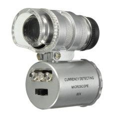 Daftar Harga Mini 60 X Mikroskop Saku Penukaran Lampu Led Perhiasan Kaca Pembesar Lensa Kaca Pembesar Oem