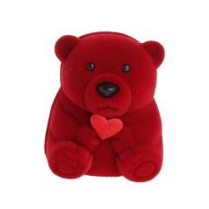 Mini Beruang Beludru Jewellery Hadiah Kotak untuk Cincin dan Kecil Liontin Kalung-Internasional