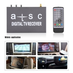 MINI Mobil Digital Receiver TV Televisi Analog Tuner dengan Antena Remote Controller-Intl
