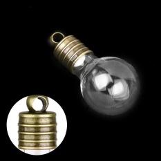 Mini Kosong Glass Flask Charm Wish Botol Liontin 10 Pcs. Clear-Intl