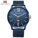 Diskon Mini Focus Mf0018G Men S Watches Quartz Business Simple Trend Of Three Pin Waterproof Watch Steel Mesh Belt Watch Blue Intl Mini Focus Tiongkok