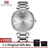 Promo Mini Focus Top Luxury Brand Watch Famous Fashion Dress Cool Women Quartz Watches Calendar Waterproof Stainless Steel Wristwatch For Female Mf0031L Intl Akhir Tahun