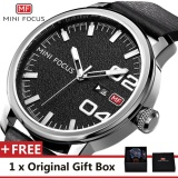 Spek Mini Focus Top Merek Mewah Menonton Terkenal Fashion Olahraga Cool Men Quartz Watches Kalender Kulit Tahan Air Jam Tangan Untuk Pria Mf0022G Intl Mini Focus