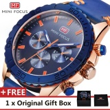 Spek Mini Focus Top Merek Mewah Menonton Terkenal Fashion Olahraga Cool Men Quartz Watches Kulit Tahan Air Jam Tangan Untuk Pria Mf0007G Intl Mini Focus
