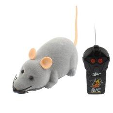 Spesifikasi Mini Mice Prank Toy With Remote Control Mainan Kucing Gray Mini