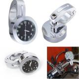 Jual Beli Mini Tahan Air 7 8 Motor Motorbike Mm X 80Mm Untuk Handlebar Mount Digital Clock Perak Intl Tiongkok