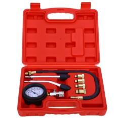 Mobil Kecil Mesin Tekanan Silinder Gauge Alat Diagnostik Compressiontester Set Hitam (Warna: Hitam)-Internasional