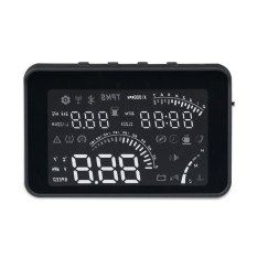 Mobil Kecil Geyiren W03 Mobil HUD Yang Mengepalai Tampilan OBD II Antarmuka Suara/Kecepatan/Suhu Mesin/Tegangan Baterai /ClockBlack (Warna: Hitam)-Intl