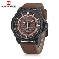 Minicar Naviforce Nf9083M Male Quartz Watch Japan Movt Decorative Sub Dial Date Display Wristwatch Brown Color Brown Intl Oem Murah Di Tiongkok
