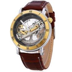 MiniCar SHENHUA 9584 Men Auto Mechanical Watch Transparent LuminousPointer See Through Roman Dial with Artificial Diamond WristwatchGolden(Color:Golden) - intl