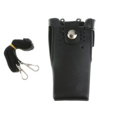 Miracle Shining PU Leather Case Holster Pouch for Motorola Two Way Radio HT750 GP380 GP360 - intl