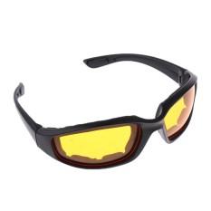 Keajaiban Bersinar Tahan Angin Pad Olahraga Ekstrim Kacamata Hitam Kacamata Mengendarai Motor Kuning-Intl
