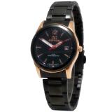 Diskon Mirage Date Jam Tangan Wanita Stainless Steel Mrg 710 Black Gold Mirage Dki Jakarta