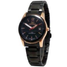 Spesifikasi Mirage Date Jam Tangan Wanita Stainless Steel Mrg 710 Black Gold Online