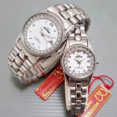 Pusat Jual Beli Mirage Jam Tangan Couple Mrg2622 Diamond Silver White Dki Jakarta