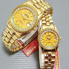 Mirage - Jam Tangan Couple - Stainless Steel - MRG 668 Couple Gold