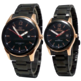Review Terbaik Mirage Jam Tangan Couple Stainlesss Steel Mrg 710 Black Gold