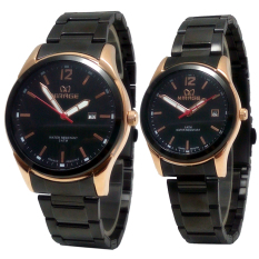 Toko Mirage Jam Tangan Couple Stainlesss Steel Mrg 710 Black Gold Termurah