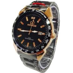 Jual Mirage Jam Tangan Pria Stainless Steel Hitam Gold Mg 1411 Overseas Antik