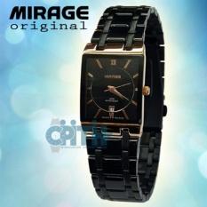 Mirage Jam Tangan Wanita- Hitam Gold - MG 4001rg