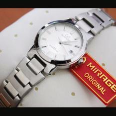 Mirage Jam Tangan Wanita Original - strap Stainless - Black Gold - MGE776