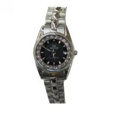 Jual Mirage Jam Tangan Wanita Stainless Steel Mrg 668 Silver Hitam Online