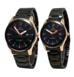 Jual Mirage Mgr7570Brp Couple Jam Tangan Couple Stainless Steel Back Made In Japan Hitam Rosegold Murah Indonesia