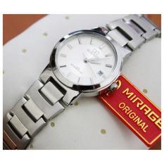Promo Mirage Original Jam Tangan Wanita Strap Stainless Silver Murah