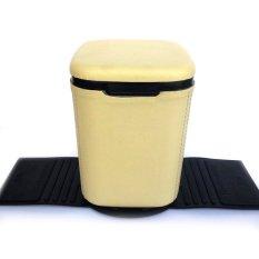 MMS Tempat Box Sampah Mobil Plastik lapis Vinyl - Cream