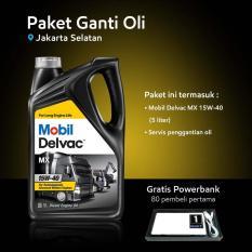 Mobil Delvac MX™ 15W-40 (5 liter) Paket Ganti Oli (Jakarta Selatan)