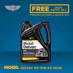 MOBIL DELVAC MX 15W40 (4 Liter) - [ GRATIS JASA DAN CHECK-UP ]
