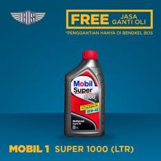 Mobil Super 1000 15W-40 (1 Liter) - [ GRATIS JASA DAN CHECK-UP ]