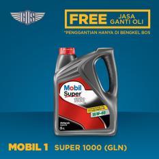 Mobil Super 1000 15W-40 (4 Liter) - [ GRATIS JASA DAN CHECK-UP ]