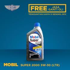 Mobil Super 2000 5W-30 (1 Liter) - [ GRATIS JASA DAN CHECK-UP ]