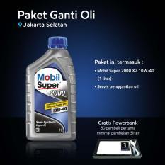 Mobil Super™ 2000 X2 10W-40 (1 liter) Paket Ganti Oli (Jakarta Selatan)