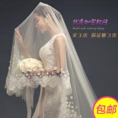Spesifikasi Kerudung Mempelai Wanita Kerudung Model Korea Gaun Pengantin Baru Bagus